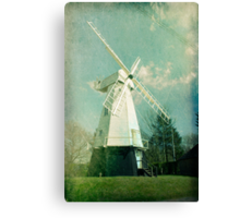 English windmill in countryside Canvas Print