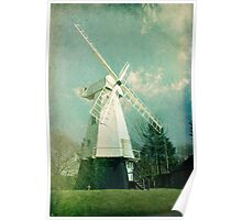 English windmill in countryside Poster