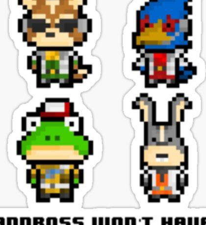 8-bit Starfox Sprites Sticker