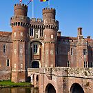 Moated English castle by friendlydragon