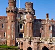 Moated English castle by friendlydragon