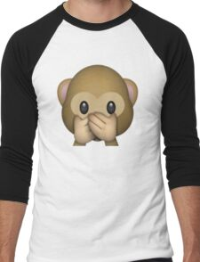 Monkey Emoji - Speak No Evil Men's Baseball ¾ T-Shirt