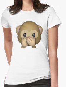 Monkey Emoji - Speak No Evil Womens Fitted T-Shirt