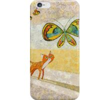 CAT WATCHING BUTTERFLIES iPhone Case/Skin