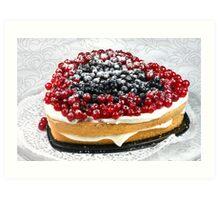 Berries and Biscuit Art Print