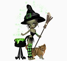 Little Earth Witch Womens Fitted T-Shirt