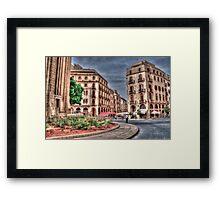 Beirut Down Town  Framed Print