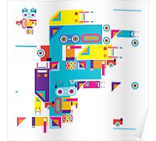 F graphics pattern Poster