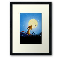 Follow your dreams - cat and butterfly Framed Print