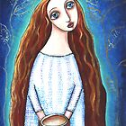 """Fill My Cup Lord"" original folk art painting  by Lana Wynne"