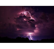 Lightning strike in Missouri Photographic Print