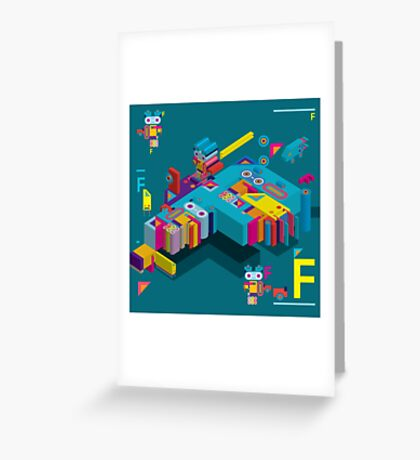 F graphics pattern Greeting Card