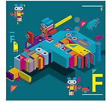 F graphics pattern Photographic Print