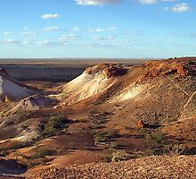 The Breakaways, Coober Pedy SA, Aust by Alison Howson