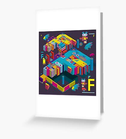 F graphics pattern 3 Greeting Card