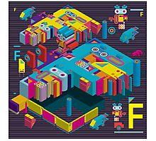 F graphics pattern 3 Photographic Print