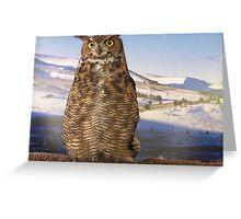 Horned Owl Greeting Card