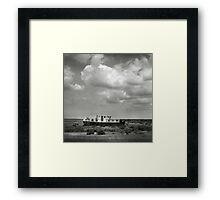 Blakeney Boat at low tide Framed Print