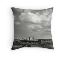 Blakeney Boat at low tide Throw Pillow