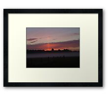 Misty layer Framed Print