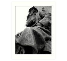 Guardian of granite Art Print