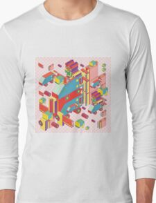 machine of robot vintage isometric Long Sleeve T-Shirt
