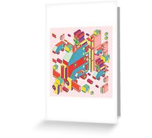 machine of robot vintage isometric Greeting Card