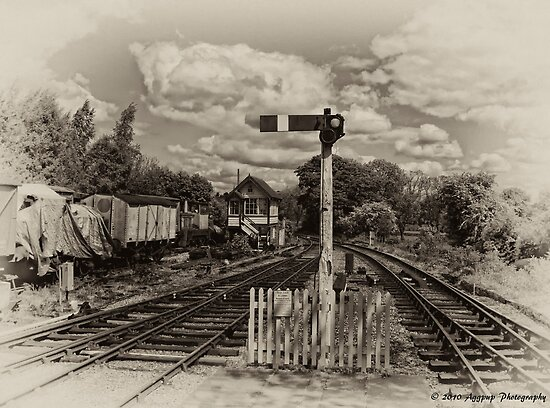 Foxfield Signalbox B&W by David J Knight