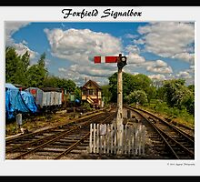 Foxfield Signalbox Framed by David J Knight