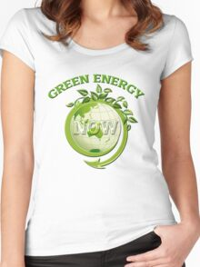 GREEN ENERGY NOW Women's Fitted Scoop T-Shirt