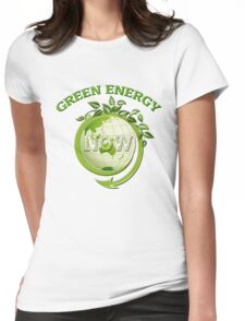 GREEN ENERGY NOW Womens Fitted T-Shirt