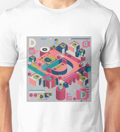alphabet 3D letter D Unisex T-Shirt