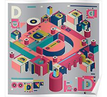 alphabet 3D letter D Poster