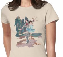 Mid Century Harlequin Ballet Dancers Womens Fitted T-Shirt
