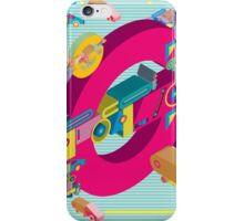 vector alphabet 3D letter G iPhone Case/Skin
