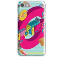 vector alphabet 3D letter G iPhone Case/Skin