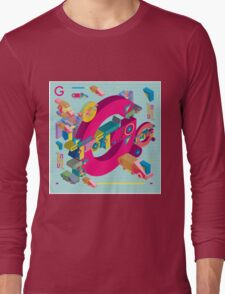 vector alphabet 3D letter G Long Sleeve T-Shirt