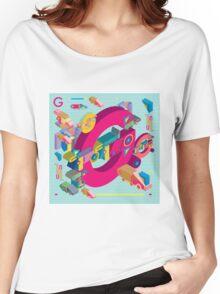 vector alphabet 3D letter G Women's Relaxed Fit T-Shirt