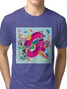vector alphabet 3D letter G Tri-blend T-Shirt