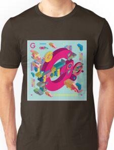 vector alphabet 3D letter G Unisex T-Shirt