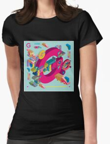 vector alphabet 3D letter G Womens Fitted T-Shirt