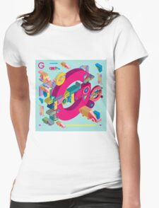 vector alphabet 3D letter G Womens Fitted T-Shirt