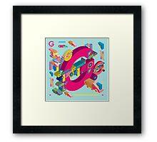 vector alphabet 3D letter G Framed Print