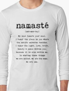 Namaste. Long Sleeve T-Shirt