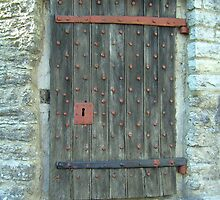 Door to roundhouse prison in Somerset by anaisnais