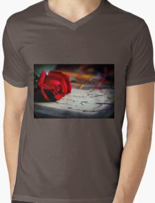 Love Is ... A Red Rose Mens V-Neck T-Shirt