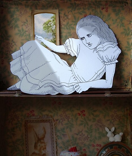 Alice in the white Rabbit's House by SusanSanford