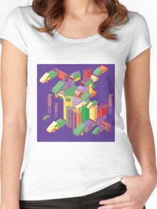 abstract robot machine Women's Fitted Scoop T-Shirt