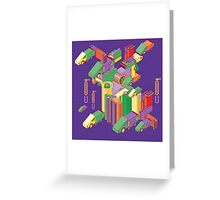 abstract robot machine Greeting Card