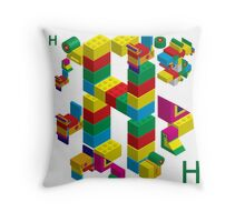 blocks constructor toys Throw Pillow